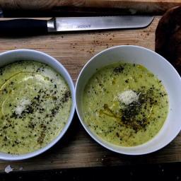 Courgette Parmigiano Soup