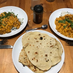 Veggie Tikka Masala with Homemade Naan