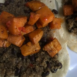 Quinoa, Black Bean and Sweet Potato Burritos