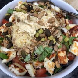 Halloumi Bulgur Salad