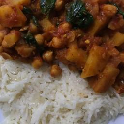 Caribbean Vegetable Curry and Coconut Rice